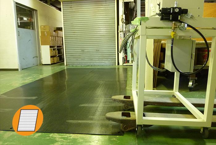 工場内の床の保護